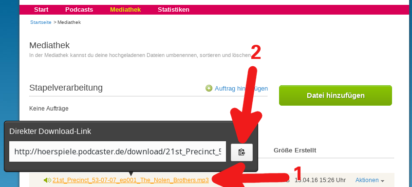 Direkten Download-Link kopieren