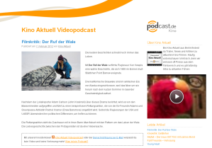 Video Podcast Hosting für Kino Aktuell